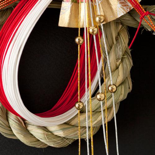 正月飾り 注連飾り 竹治郎 雪月風花 春の舞(はるのまい) 新潟県南魚沼の正月飾り 2000サイズ Japanese New Year decoration made of straw