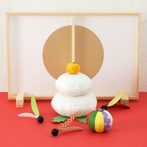 正月飾り 和紙お供えもち 小 めでたや 和紙の置き飾り New Year's decoration