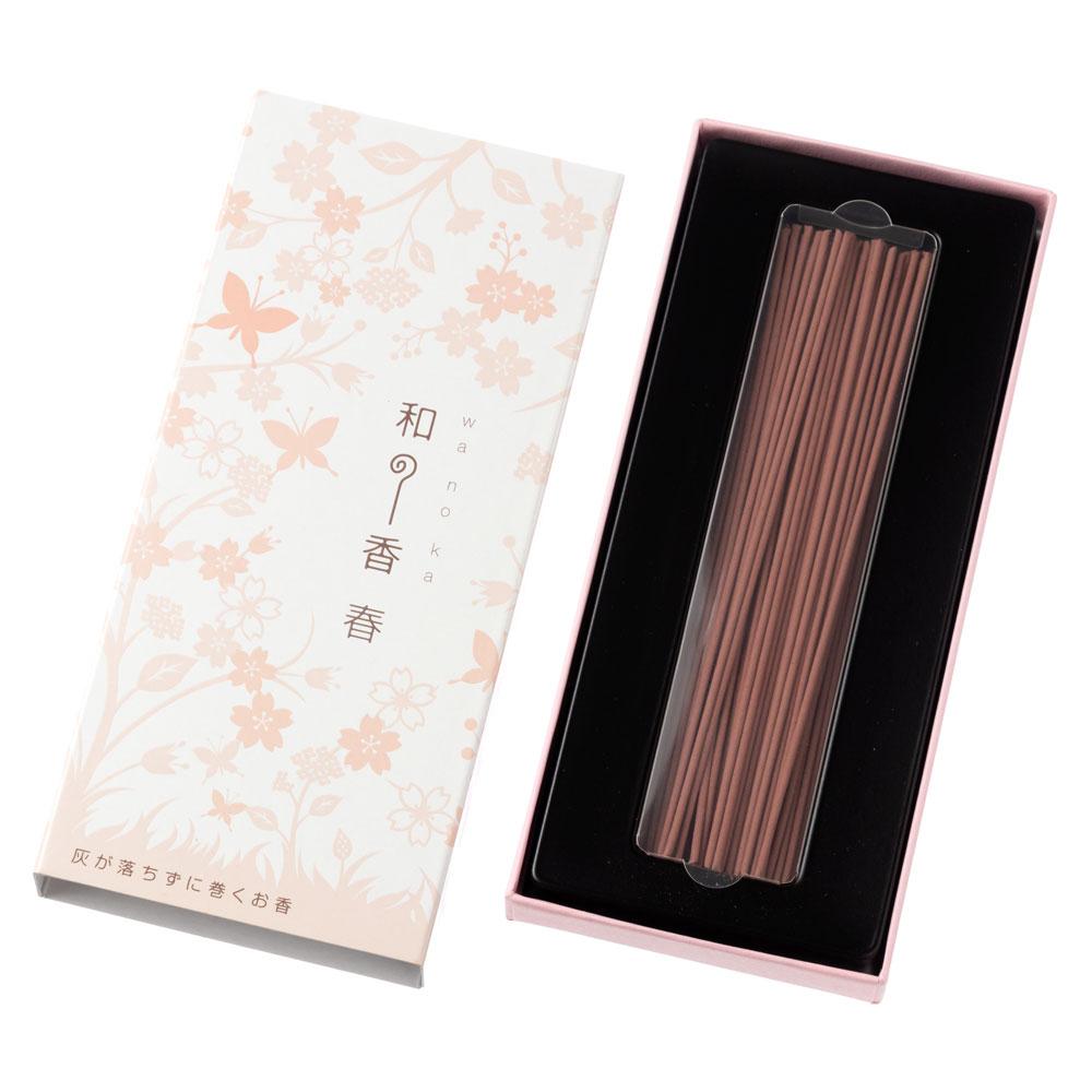 和の香 春(さくら) 灰が落ちない不思議なお線香 約50本入 岩佐佛喜堂 香川県の香り製品 Incense stick