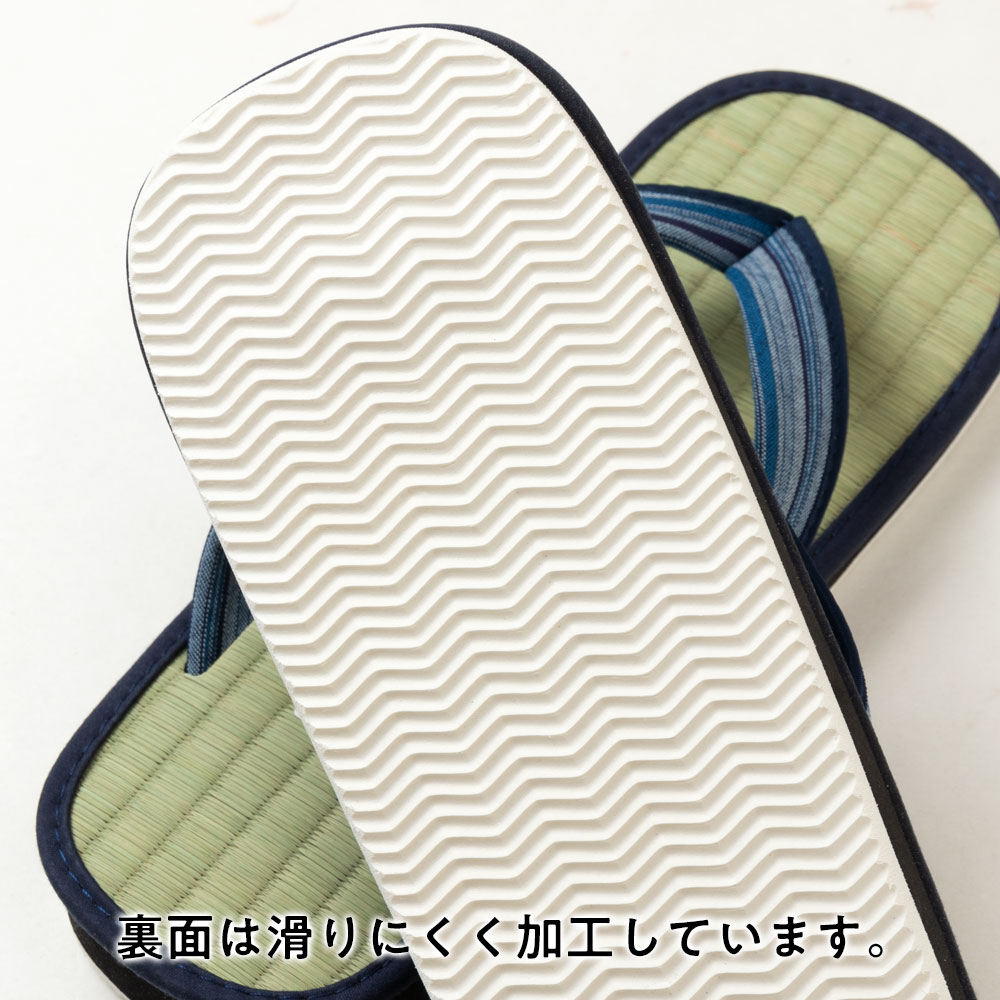 い草たたみ雪駄(フリーサイズ) ゴム底草履 スリッパ サンダル Tatami sandals