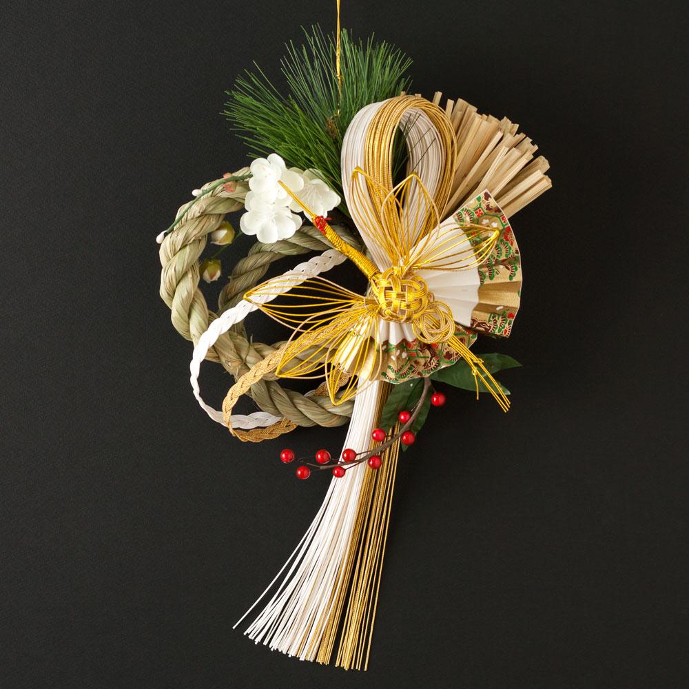 正月飾り 注連飾り 竹治郎 雪月風花 光徳(こうとく) 新潟県南魚沼の正月飾り 3800サイズ Japanese New Year decoration made of straw