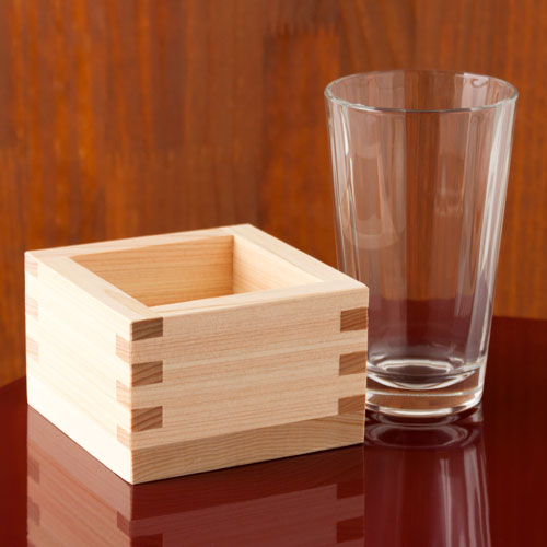 店舗様向け 日本酒『枡酒』220ml 6組セット 冷酒グラス150ml+八勺枡 Masu and Glass Sake set
