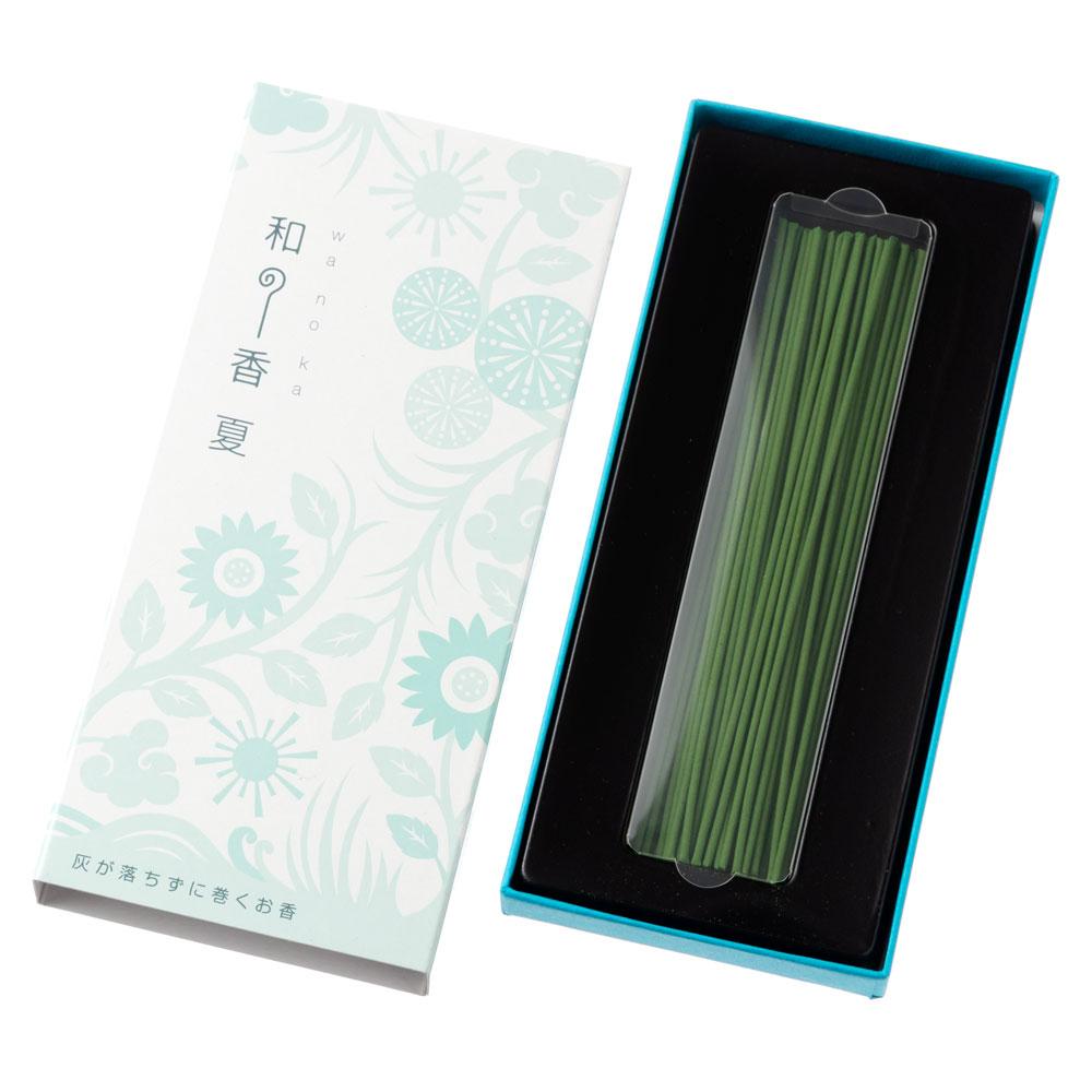 和の香 夏(いぐさ) 灰が落ちない不思議なお線香 約50本入 岩佐佛喜堂 香川県の香り製品 Incense stick