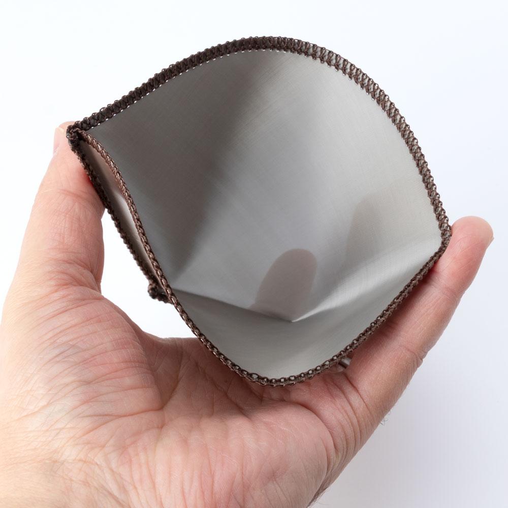 ステンレスメッシュドリッパー台形 2-4人用 金属製コーヒーフィルター 豆の味をダイレクトに抽出できるコーヒーグッズ Stainless steel coffee filter