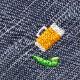 和のたしなみハンカチ ビールと枝豆 刺繍入りガーゼハンカチ スーベニール Japanese pattern embroidered gauze handkerchief
