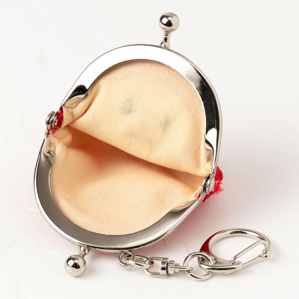 モチーフがま口キーホルダー だるま スーベニール Daruma keyring purse