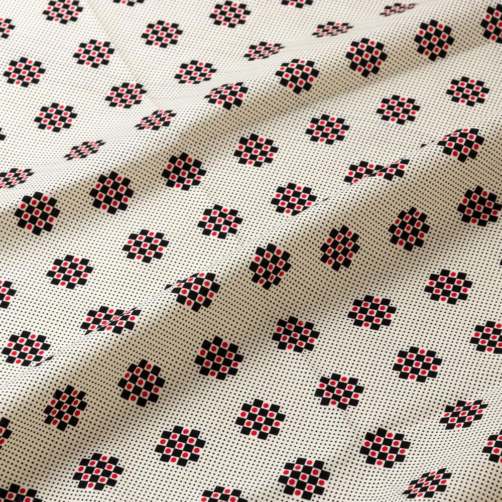 京都あらいそ 綿風呂敷 星入石畳紋 115cm Kyoto cotton wrapping cloth