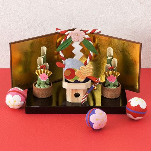 金屏風 ミニ 置物・お飾り用品 ディスプレイ用 めでたや Gold folding screen for figurine