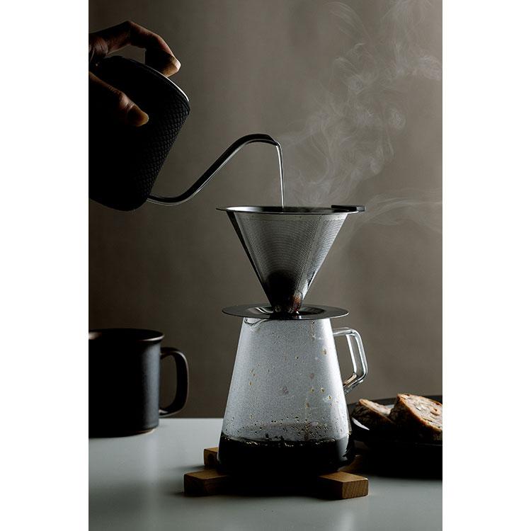 cono コーヒードリッパー 1-2人用 ステンレス製メッシュドリッパー 豆の味をダイレクトに抽出できるコーヒーグッズ Stainless steel coffee dripper