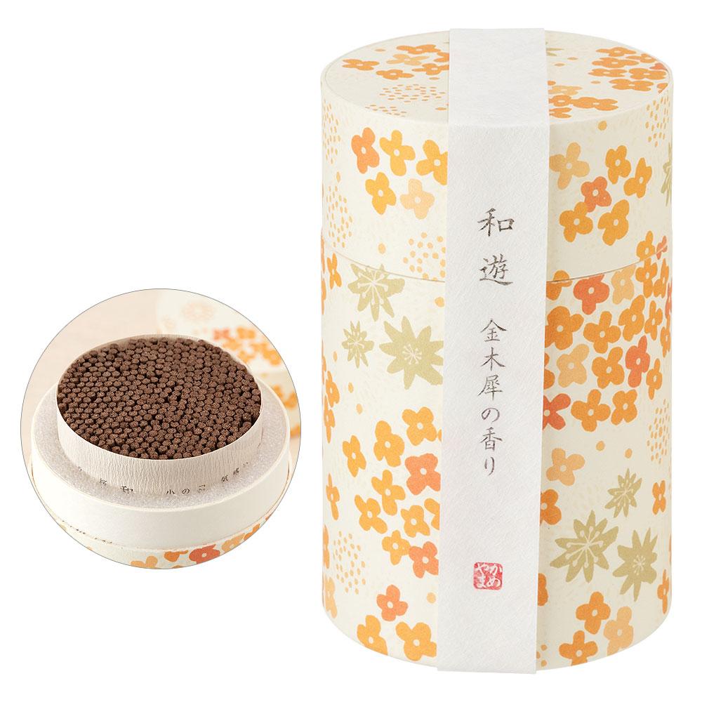和遊 金木犀の香りのお香(円筒) 線香・インセンス Japanese style incense