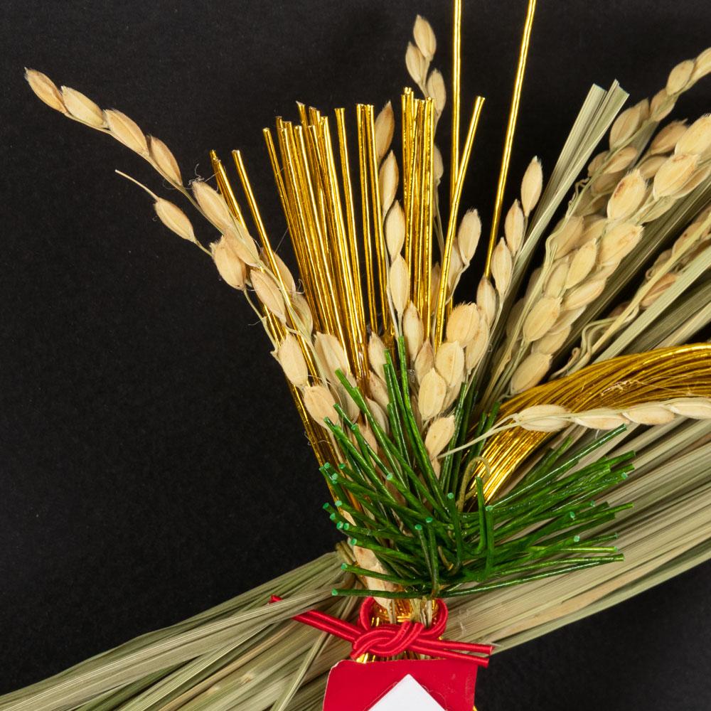 正月飾り 注連飾り 竹治郎 雪月風花 KOGANE(こがね) 新潟県南魚沼の正月飾り 1400サイズ Japanese New Year decoration made of straw