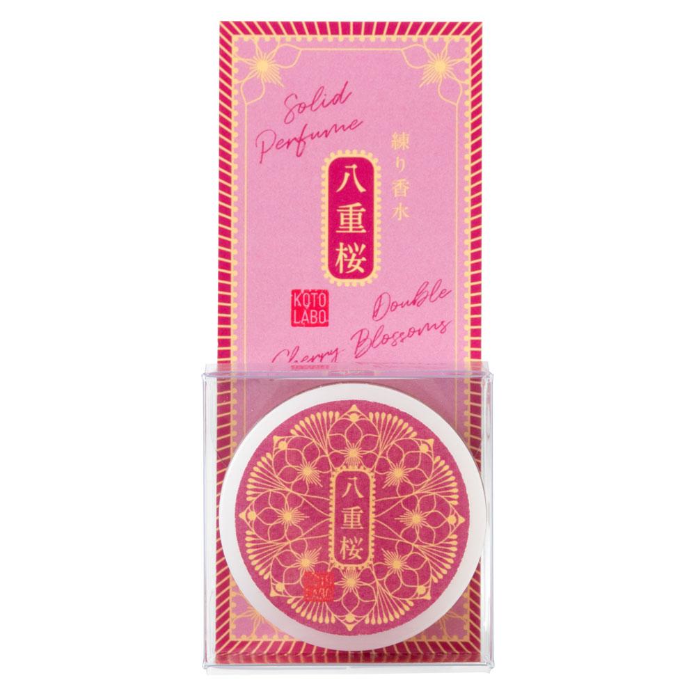 コトラボ 金箔入り透明練り香水 八重桜 ソリッドパフューム Kotolabo solid perfume, Double cherry blossom