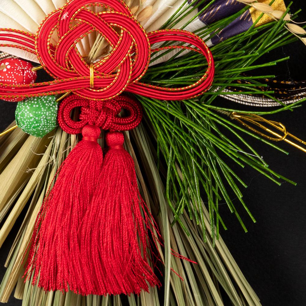 正月飾り 注連飾り 竹治郎 雪月風花 縁(えにし) 新潟県南魚沼の正月飾り 1700サイズ Japanese New Year decoration made of straw