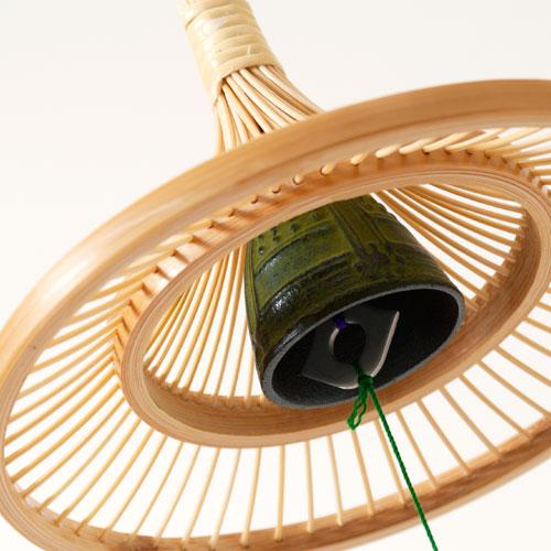 駿河竹千筋細工 軒風鈴 富士 静岡県伝統工芸品 伝統工芸士・黒田英一 作 Suruga-takesensuji-zaiku, Wind chimes made of bamboo sticks ※在庫限り