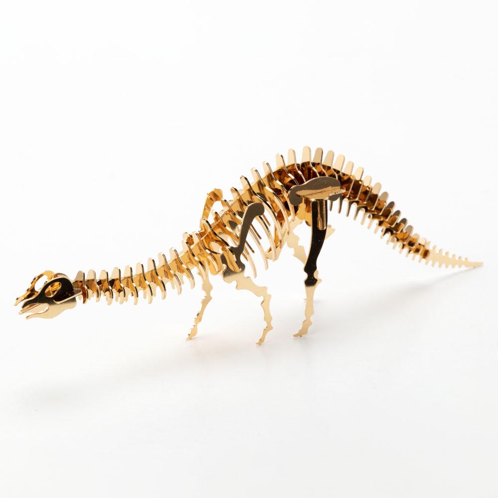 恐竜組み立てキット ブロントサウルス (Z003) ゴールド仕上げ 金属製の工作キット 対象年齢:12歳以上 Dinosaur model assembly kit