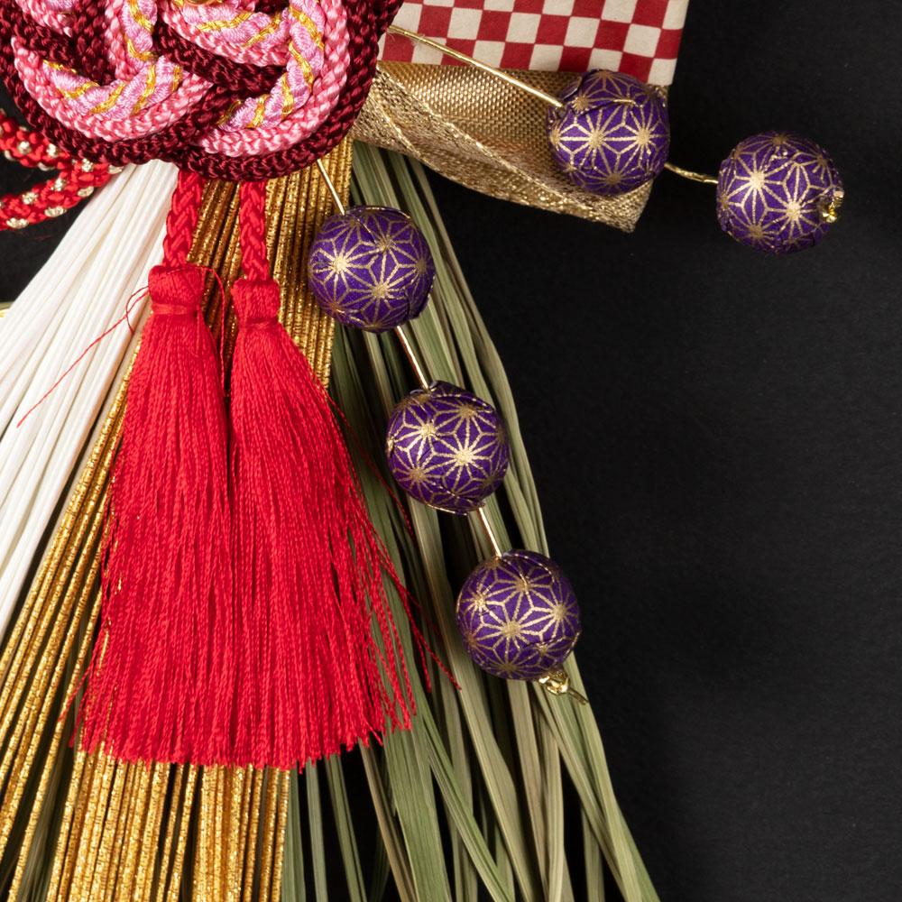 正月飾り 注連飾り 竹治郎 雪月風花 梅ノ薫(うめのかおり) 新潟県南魚沼の正月飾り 2000サイズ Japanese New Year decoration made of straw