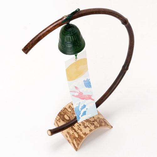 駿河竹千筋細工 小置き風鈴 (9702) 静岡県伝統工芸品 Suruga-takesensuji-zaiku, Wind chimes made of bamboo sticks