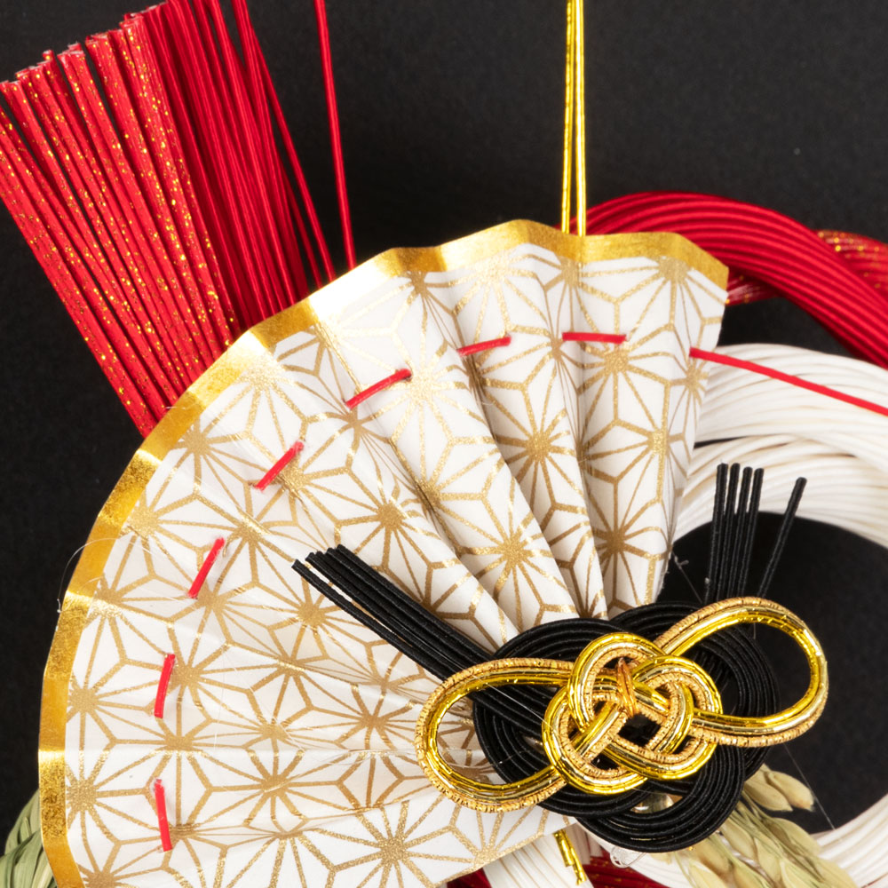 正月飾り 注連飾り 竹治郎 雪月風花 結愛(ゆめ) 新潟県南魚沼の正月飾り 2000サイズ Japanese New Year decoration made of straw