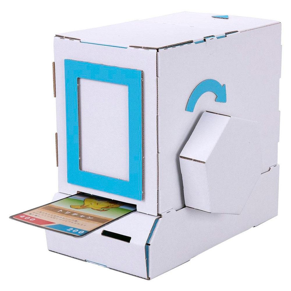 ダンボール工作キット カード販売機 のりもはさみも使わずに組み立てられるペーパークラフト Cardboard craft kit