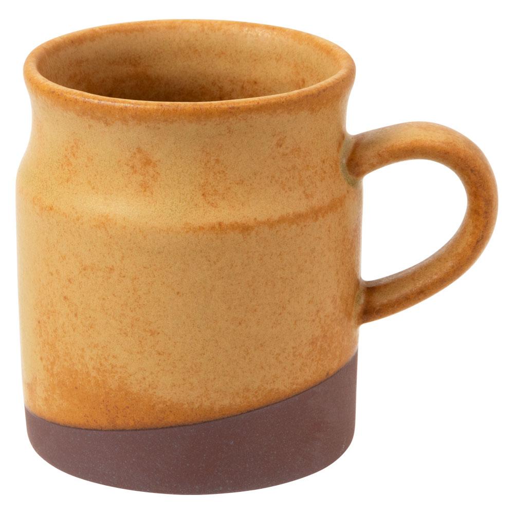 ミルク缶マグ・黄 (K4765) 瀬戸焼 愛知県の工芸品 Mug, Aichi craft