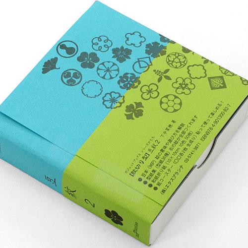 小さくて使いやすい♪ 紋切り型 豆紋2 10×10cm色紙50枚付き