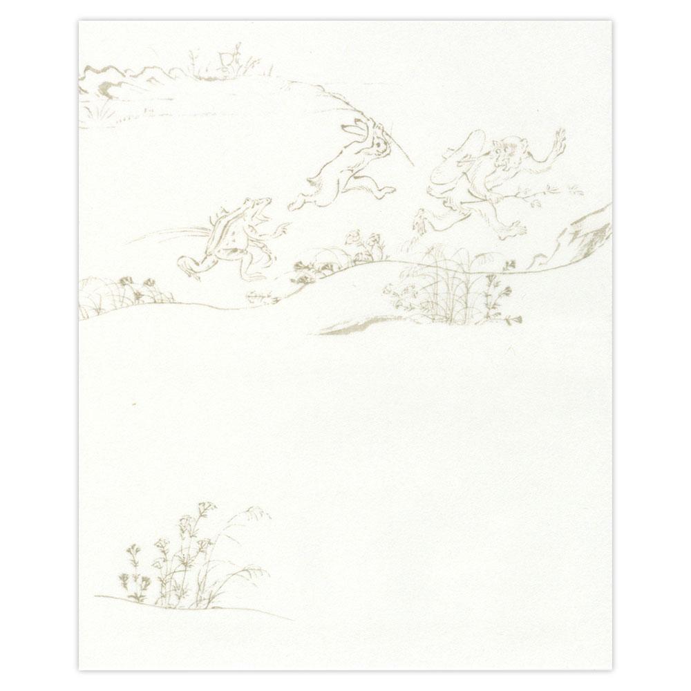日本市 懐紙 鳥獣絵巻