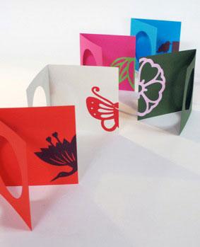 ちらり。それが美しい。 紋切り型 のぞき紋 10×10cm丸窓カード10枚・色紙50枚付き