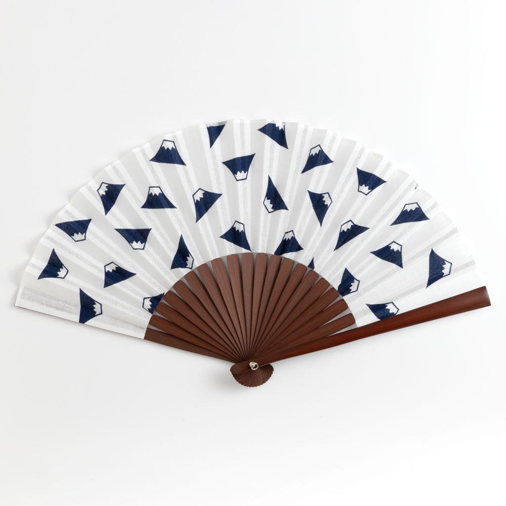 てぬぐい扇子 富士山 スーベニール Folding fan made of cloth ※在庫限り