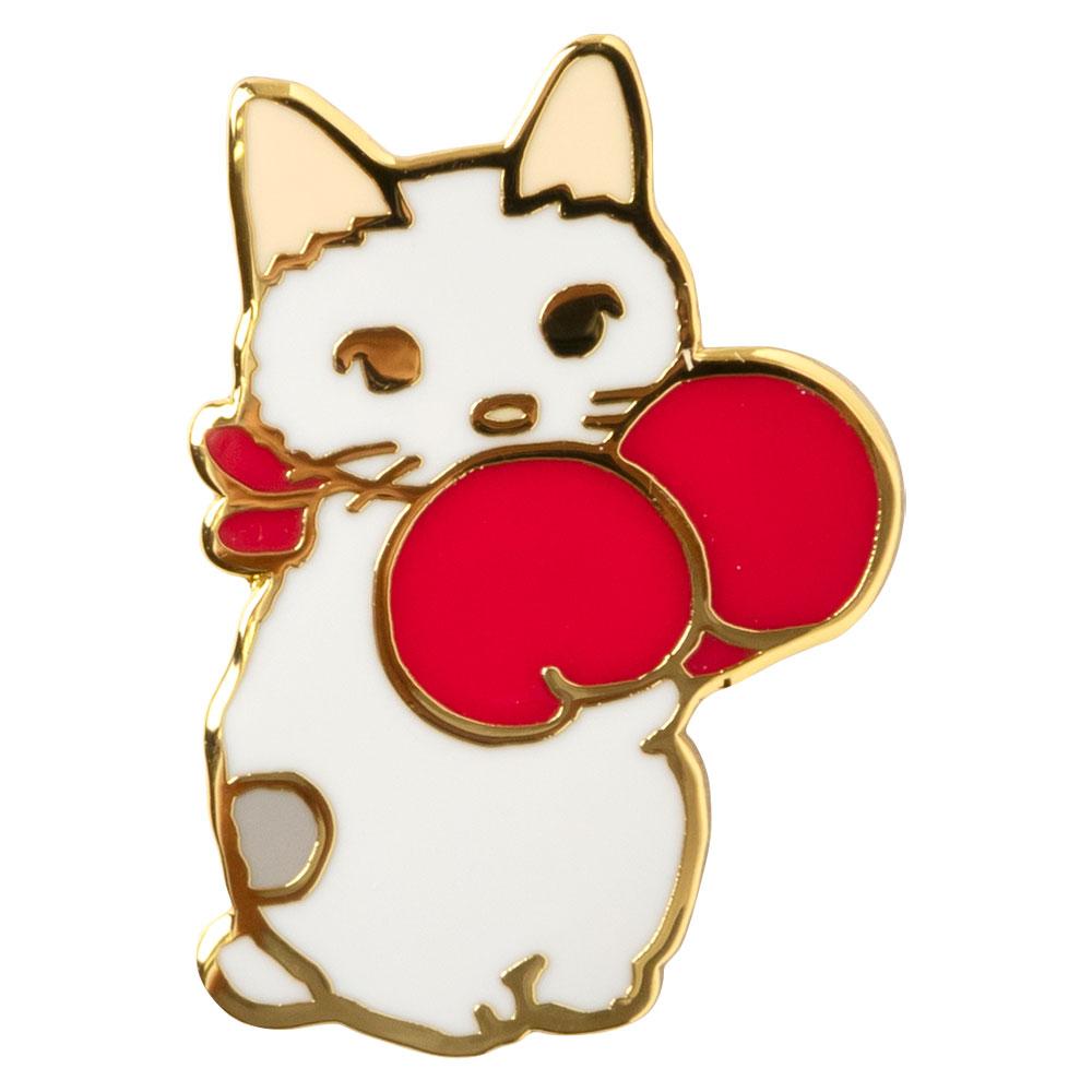 ピンズコレクション ねこパンチ (PZ-63) ポタリングキャット Cat pins, Pottering cat