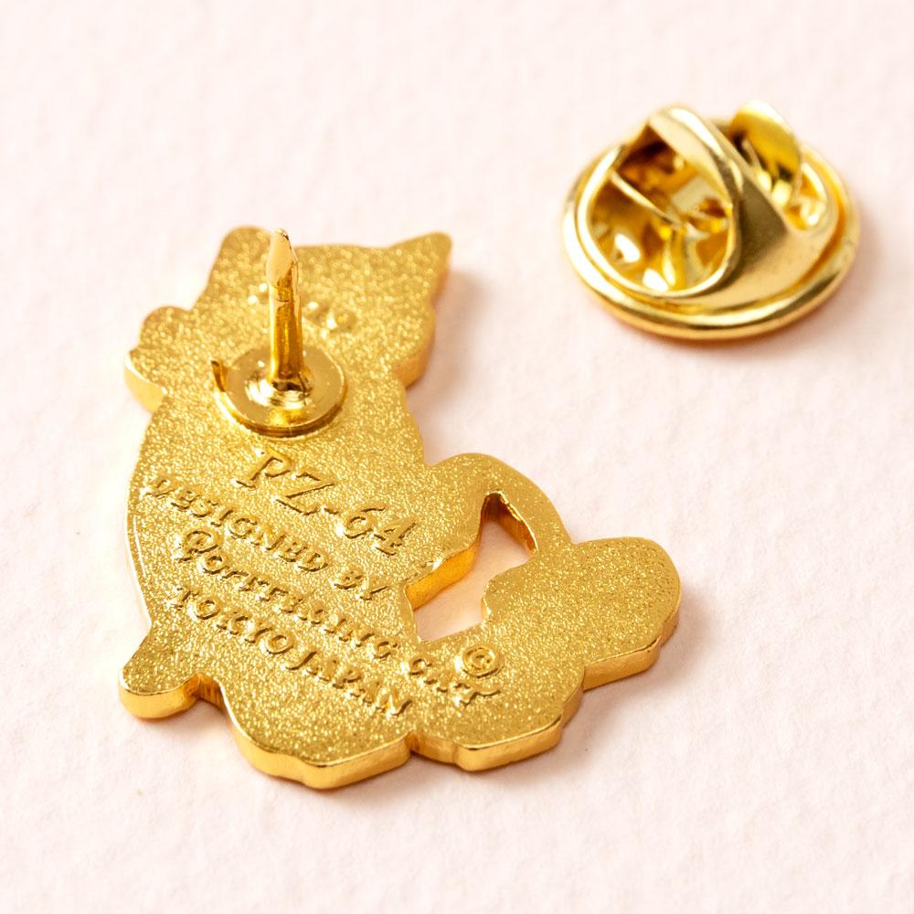 ピンズコレクション お茶 (PZ-64) ポタリングキャット Cat pins, Pottering cat