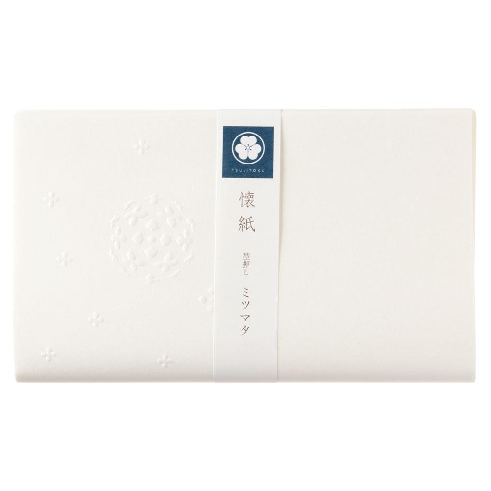辻徳 型押し懐紙 ミツマタ 20枚入り 越前和紙 Kataoshi kaishi, Japanese paper
