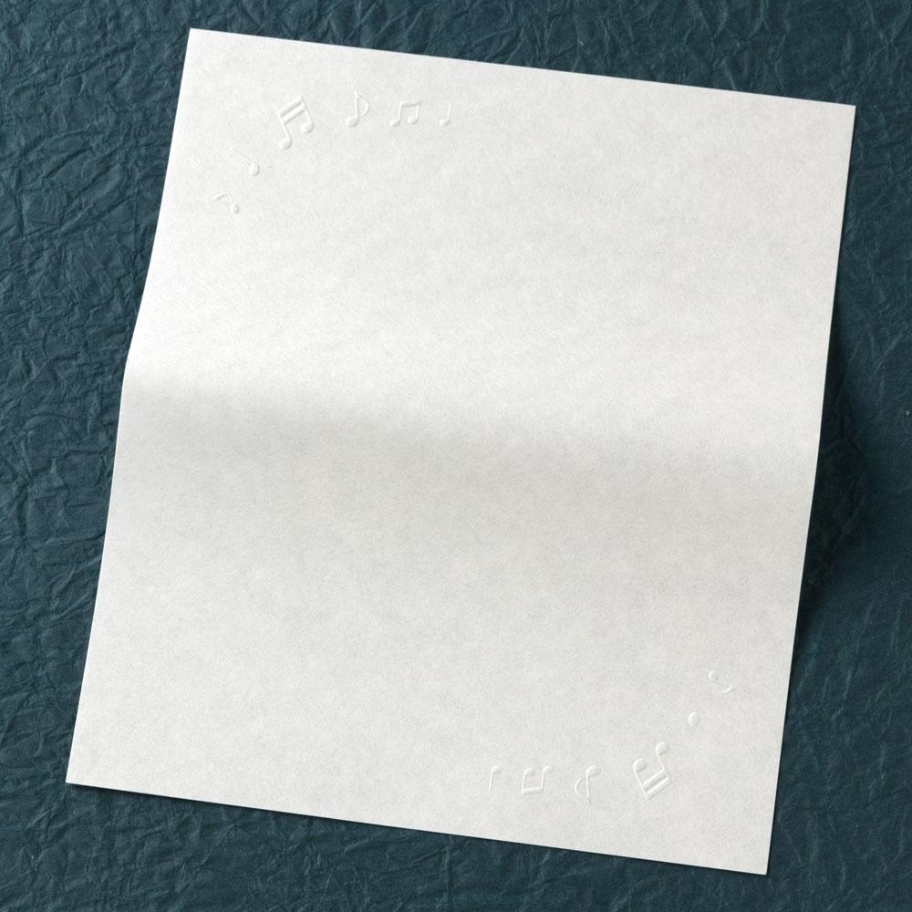 辻徳 型押し懐紙 ミュージック 20枚入り 越前和紙 Kataoshi kaishi, Japanese paper