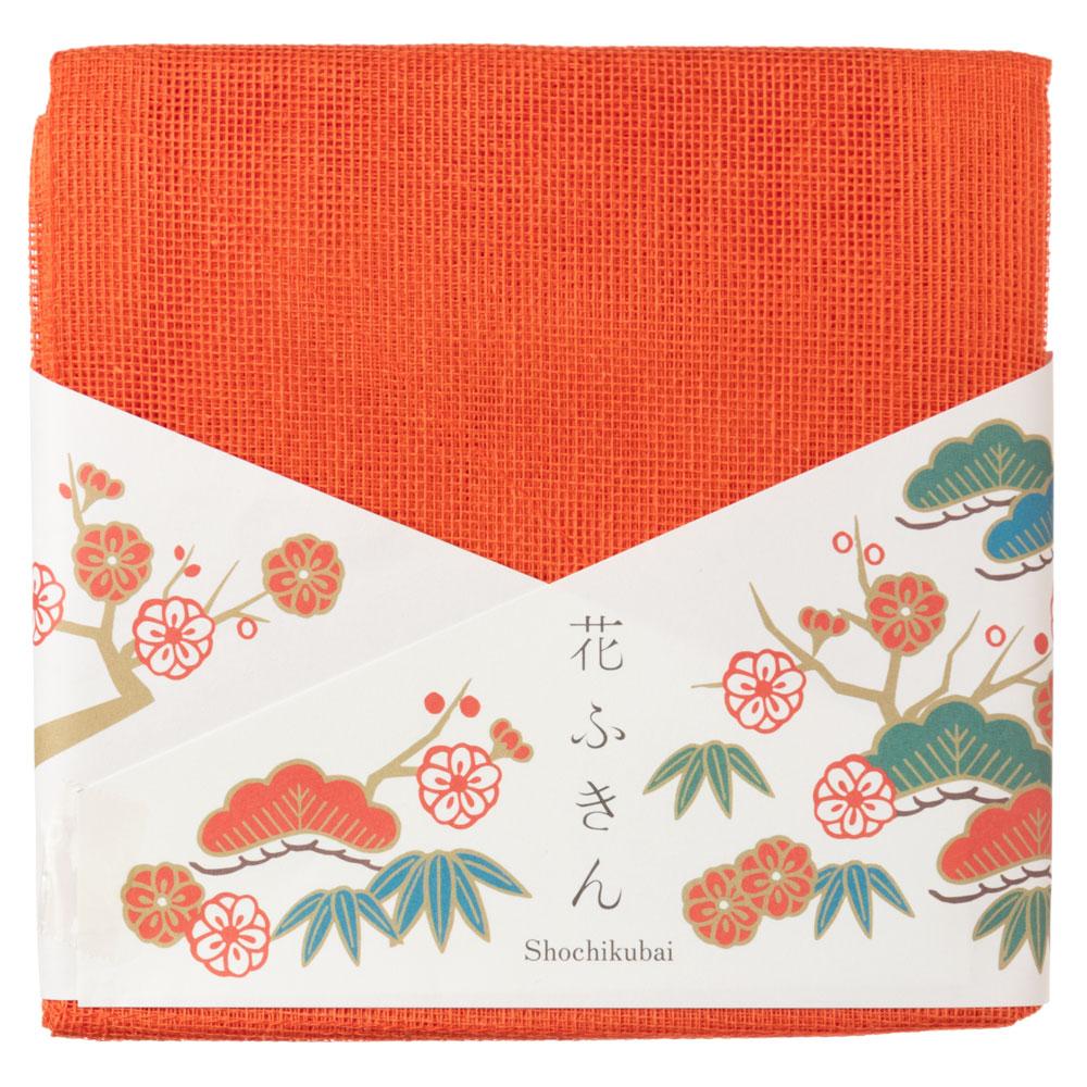 遊 中川 花ふきん 松竹梅 お正月のご挨拶や贈り物に 蚊帳生地2枚重ね布巾