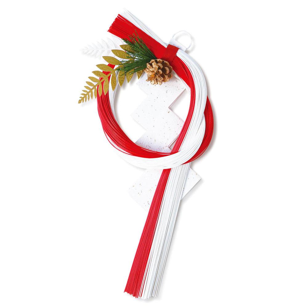 正月飾り 水引紅白 のし飾り めでたや New Year's decoration