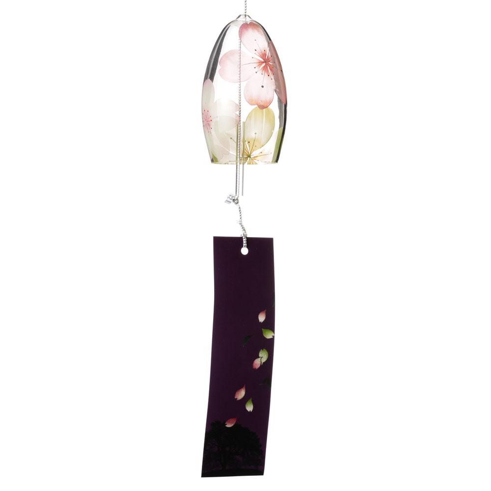 シャンパン風鈴 さくら クリスタルガラス風鈴 木之本 福島県の工芸品 Wind bell, Fukushima craft