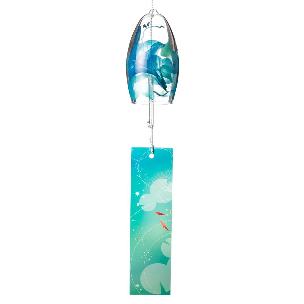 シャンパン風鈴 あさがお クリスタルガラス風鈴 木之本 福島県の工芸品 Wind bell, Fukushima craft