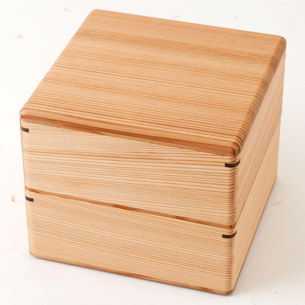 土佐龍 杉の二段重箱 高知県の工芸品 Cedar nest of boxes, Kochi craft