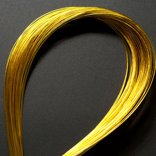 単色水引100本セット 光 金 (MZH-17) 工作用・材料