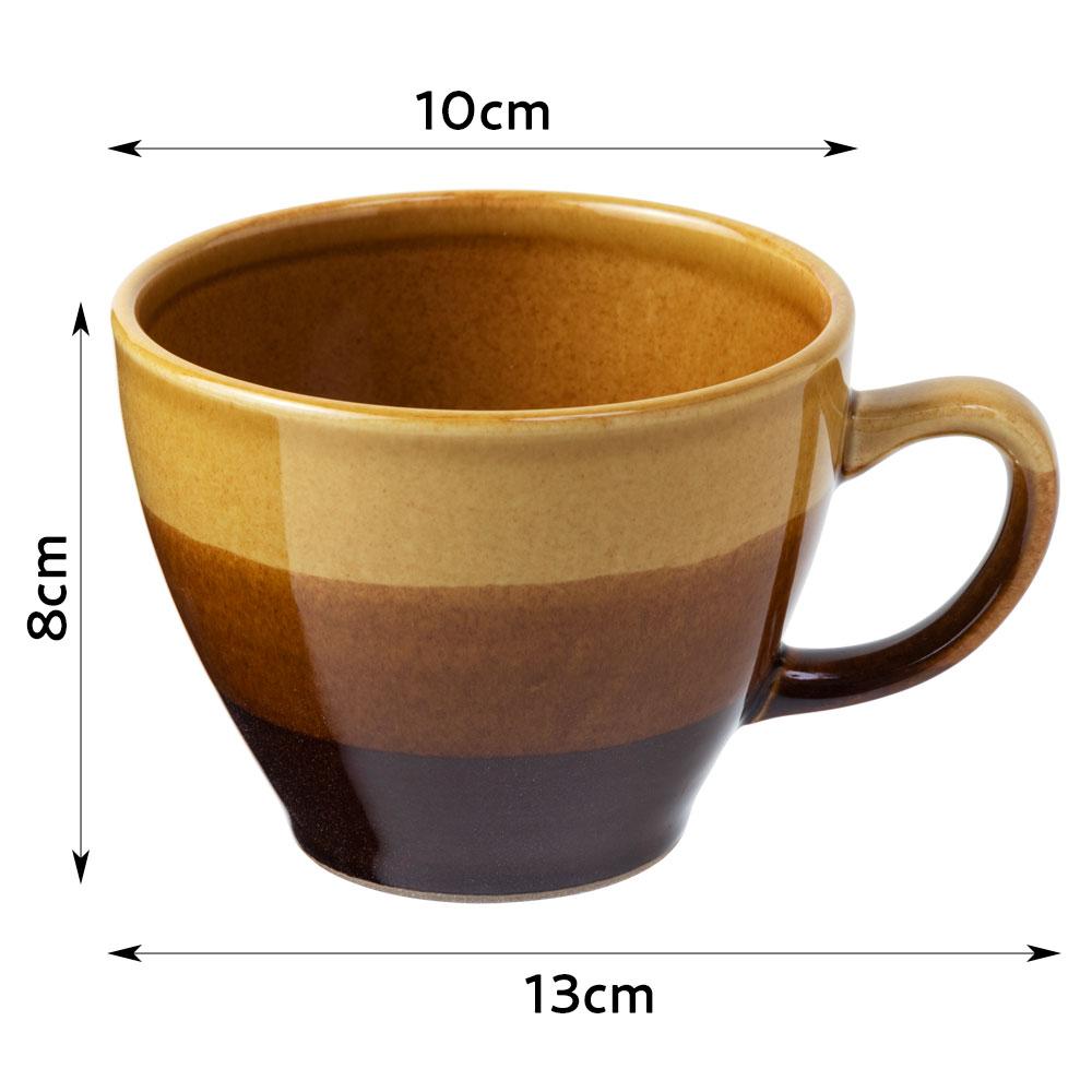 マロンマグ・黄 (K4727) スプーンの入りやすい口元の開いたカップ 瀬戸焼 愛知県の工芸品 Mug, Aichi craft