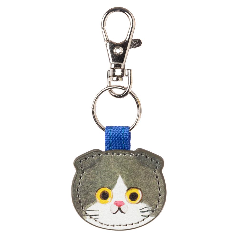 猫のキーチャーム スコティッシュはちわれ ECOUTE! minette キーホルダー まあるいおめめのキュートな猫たち