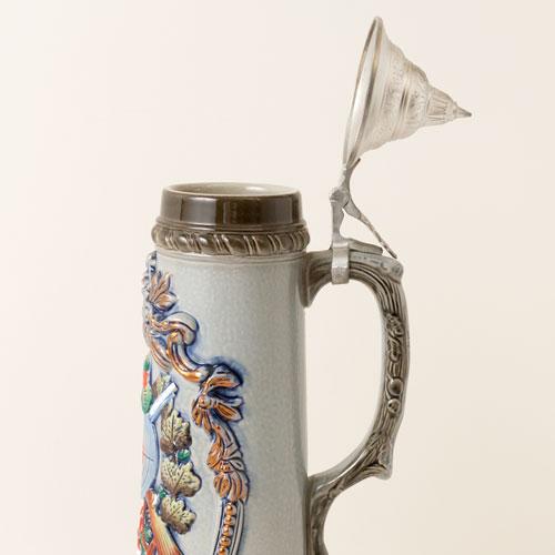【半額・在庫処分】蓋付き陶器ビアマグ GUT ZIEL ドイツ製 Beer mug made of Germany