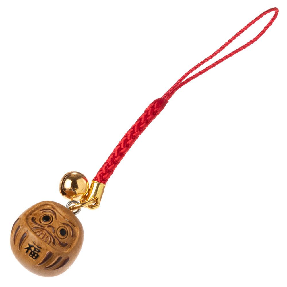 木目調根付 だるま 開運だるま・必勝だるま・合格だるま Daruma accessory, Good luck charm