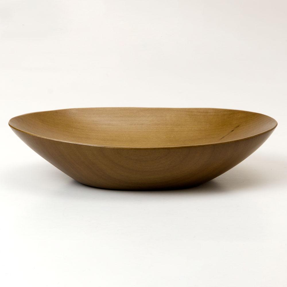 銘木 楕円中鉢 朴(ほう) 京都・美山 銘木工芸 山匠 Wooden ellipse small bowl, Magnolia, Works of Japanese precious wood