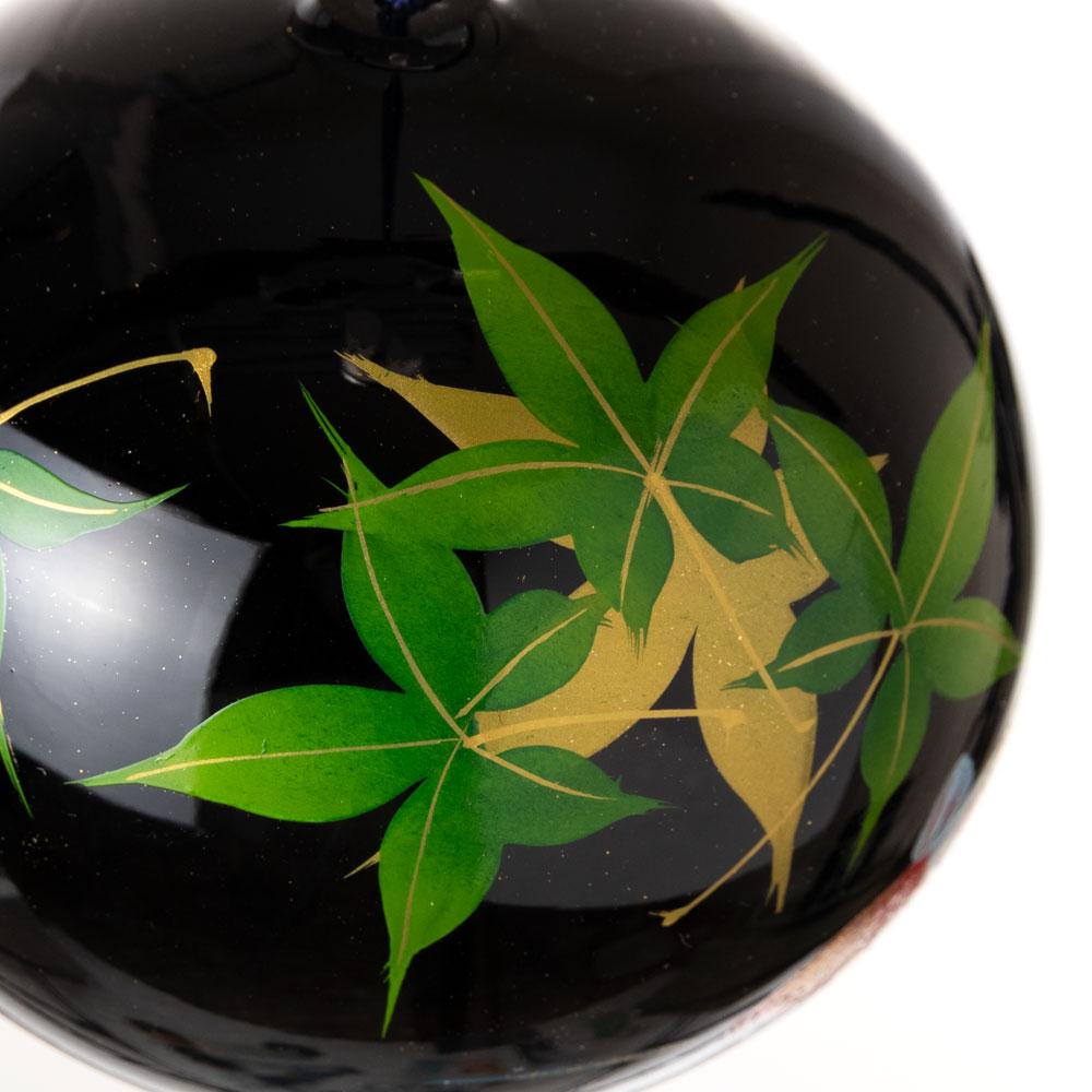 うるし匠風鈴 もみじに鯉 クリスタルガラス風鈴 木之本 福島県の工芸品 Wind bell, Fukushima craft