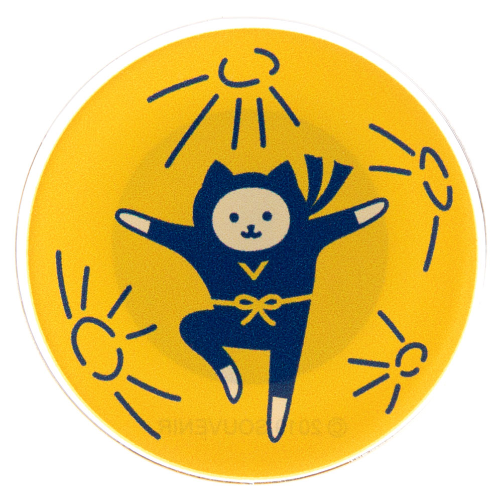 NYANJA マグネット 満月 ずっとこっちみてる猫の忍者 スーベニール Card magnet