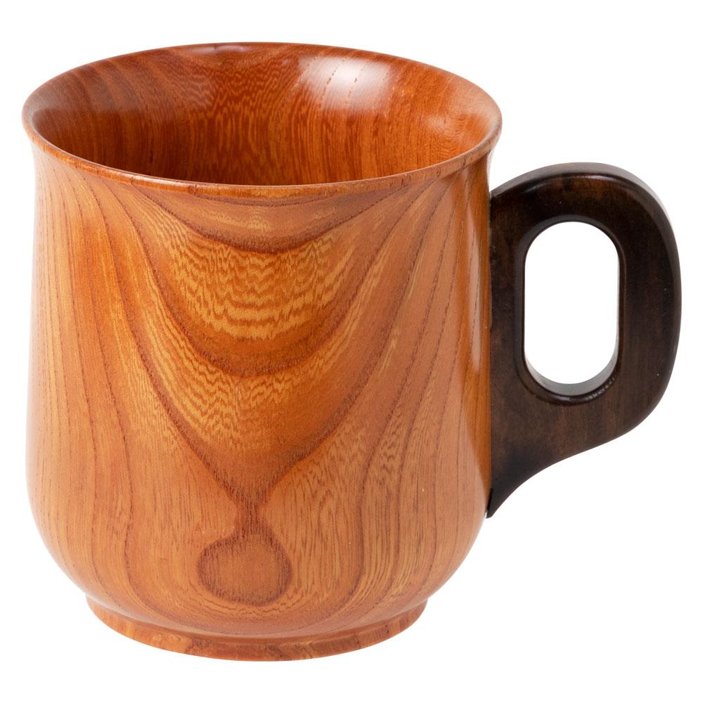 銘木マグカップ 欅(けやき) 京都・美山 銘木工芸 山匠 Wooden mug, Zelkova, Works of Japanese precious wood