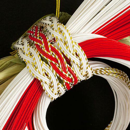 正月飾り 注連飾り 竹治郎 雪月風花 渡月橋(とげつきょう) 新潟県南魚沼の正月飾り 2800サイズ Japanese New Year decoration made of straw