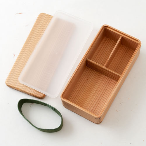 土佐龍 杉の弁当箱 シール蓋付き 高知県の工芸品 Cedar lunch box, Kochi craft