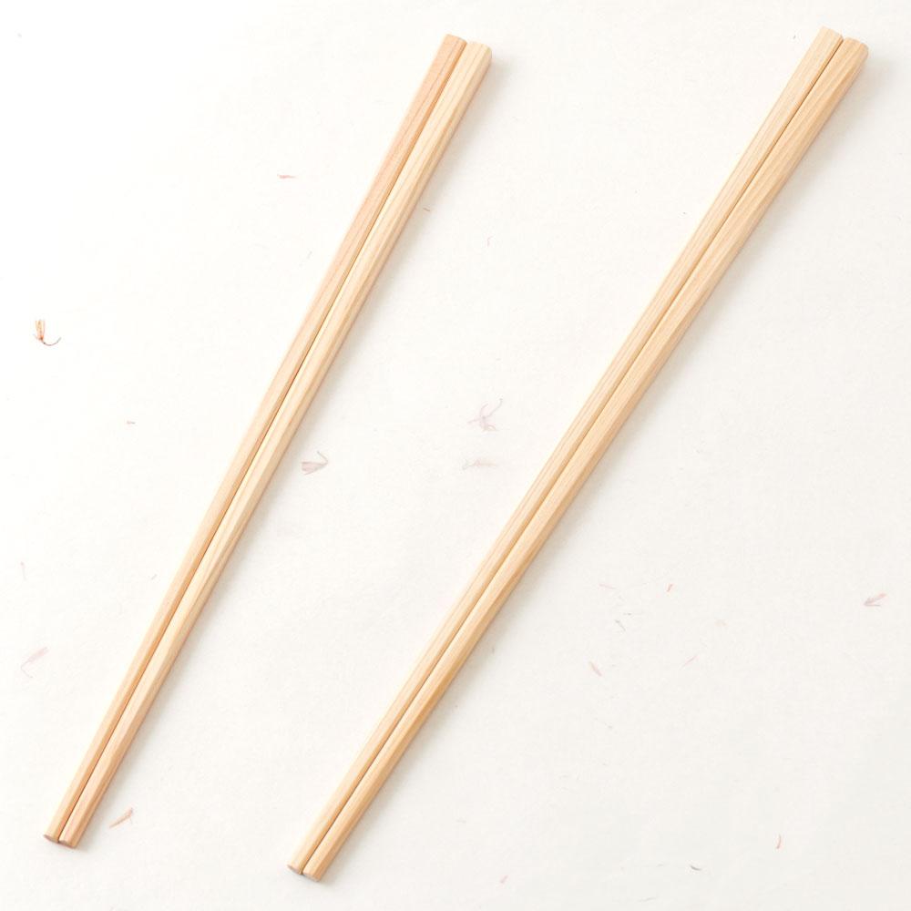 土佐龍 四万十ひのき 菜箸セット 大小2膳組 高知県の工芸品 Chopsticks set of cypress, Kochi craft