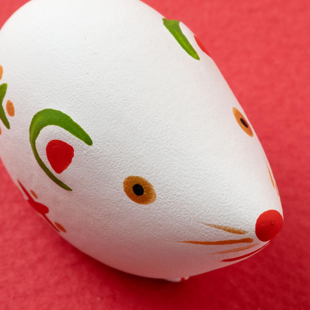 中川政七商店 正月 招福干支みくじ 子・白 おみくじ Ceramic fortune, Japanese zodiac rat